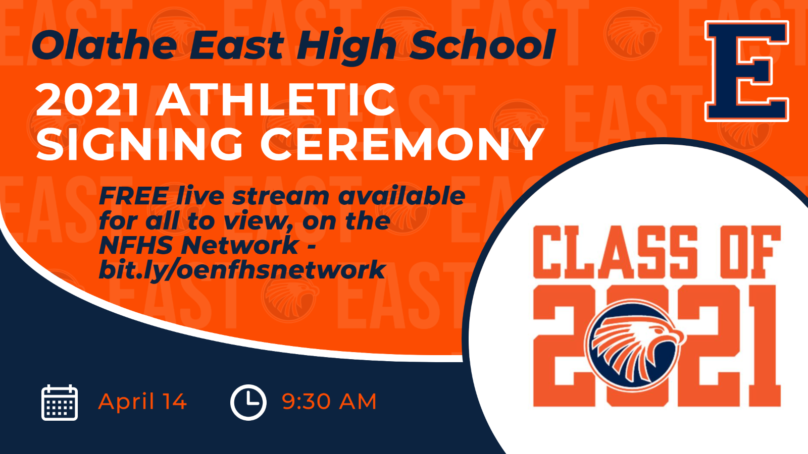 Join virtually for the 2021 OE Athletic Signing Ceremony – TODAY, April 14, 2021 (9:30AM)
