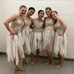 Girls Varsity Dance Large ensemble finished 4th at the Solo/Ensemble State Championships