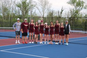 Girls Tennis vs. Roncalli (5/7/19) (Courtesy of Lisa Hirschfeld)