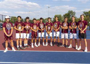 Varsity Boys Tennis vs. Bishop Chatard (9/20/19) (Courtesy of Michael Hoffbauer)