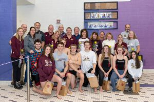Boys and Girls Swimming Senior Day (1/25/20) (Courtesy of Michael Hoffbauer)