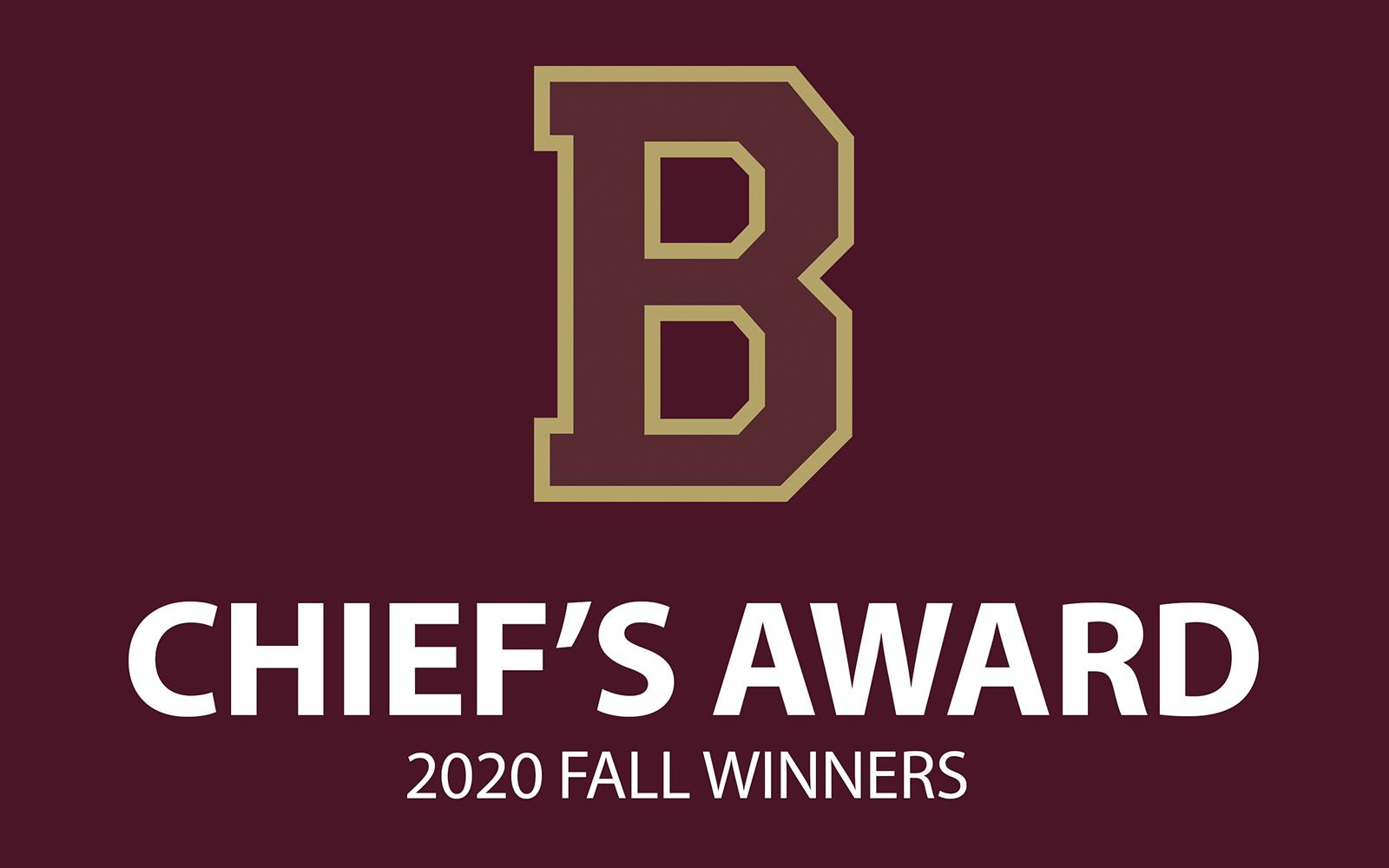 2020 Fall Sport Chief's Award Winners