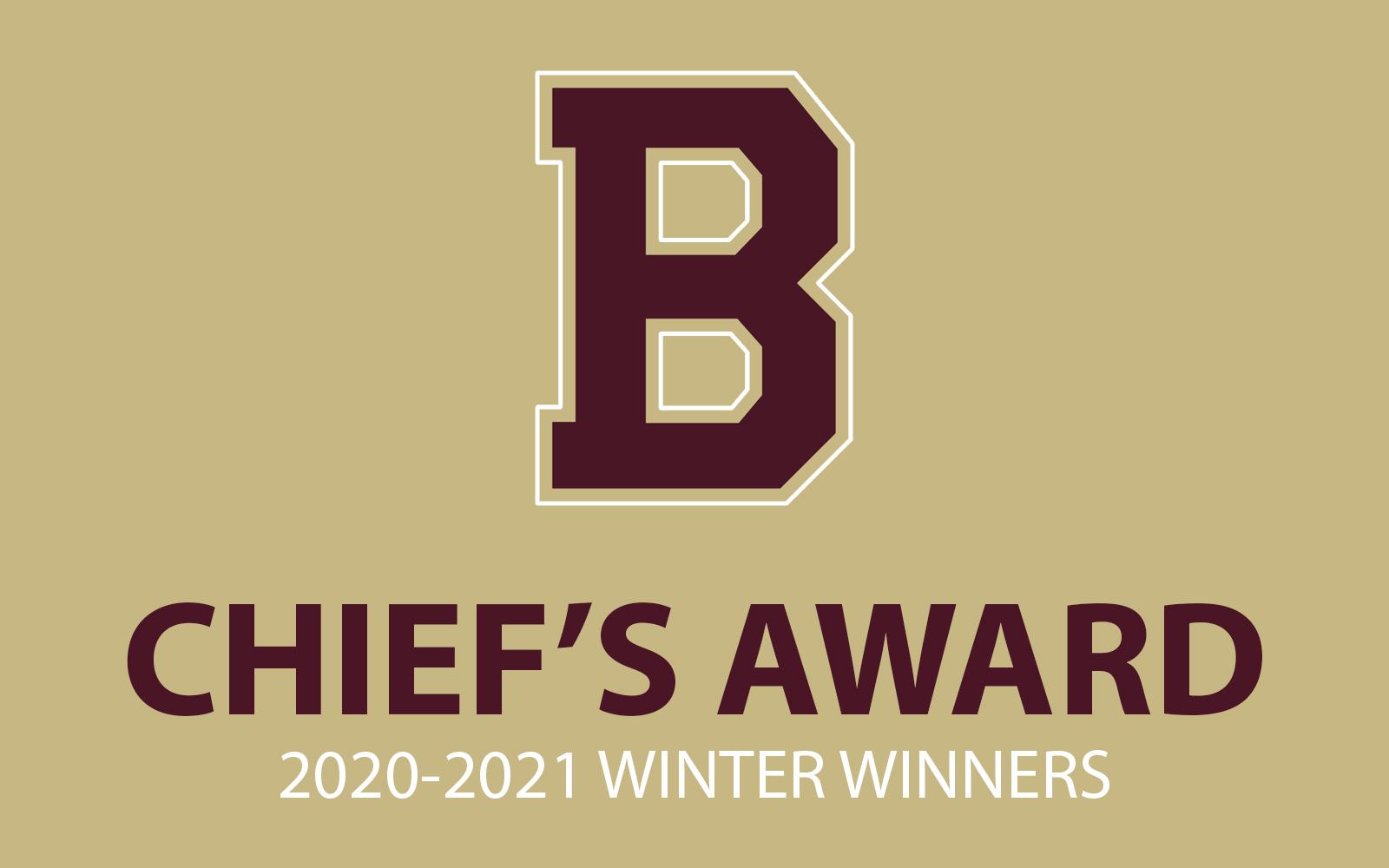 2020-2021 Winter Sport Chief's Award Winners