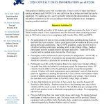 IHSA Return to Activities 1.0 Fall 2020