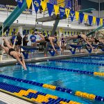Girls Swim and Dive start the season off with a 72-72 tie against Sandburg