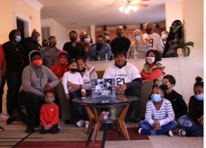 Tyleik Williams and family