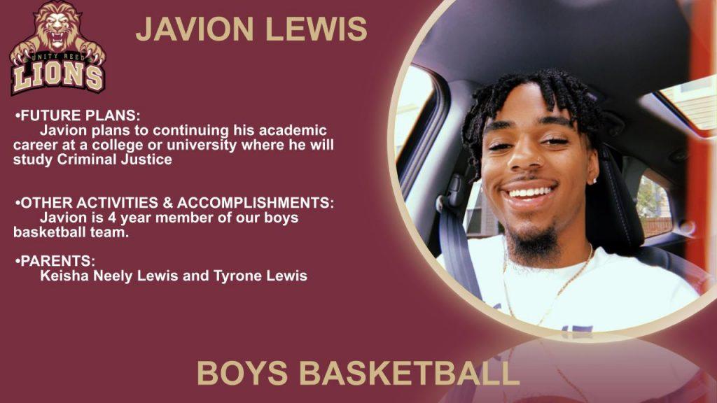 Javion Lewis Senior Slide