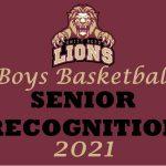 Boys Basketball Senior Recognition