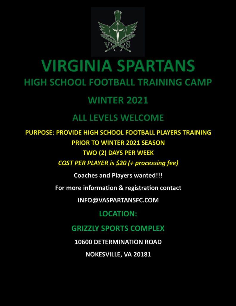 VA Spartans Football Training Camp