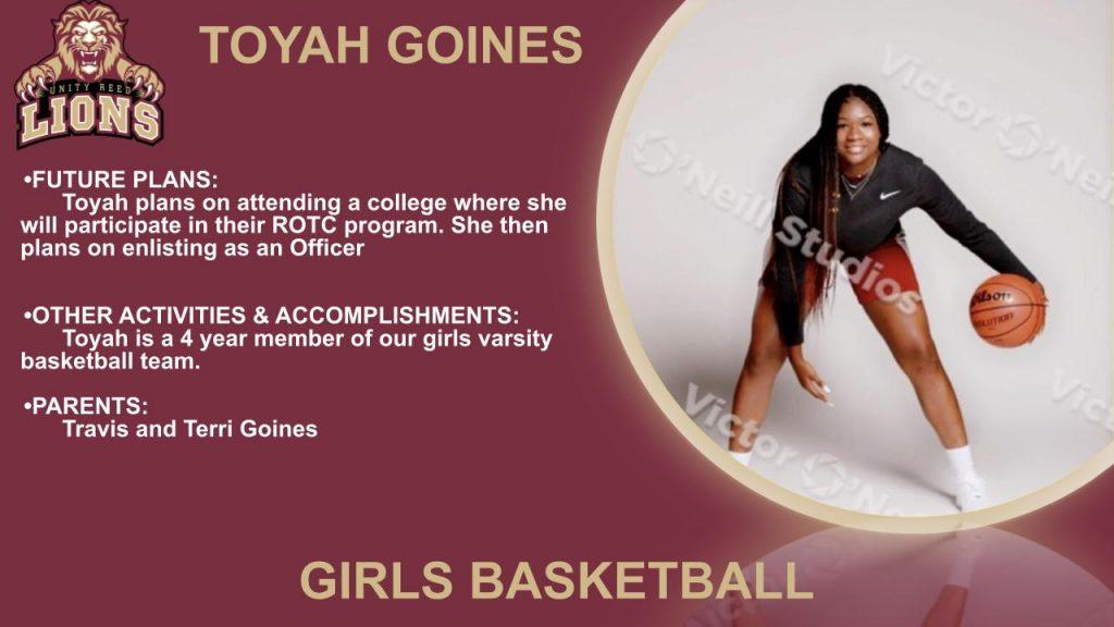 Toyah Goines Senior Recognition