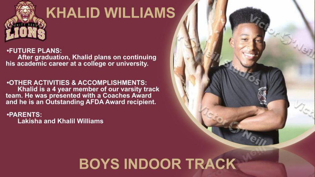 Khalid Williams Senior Recognition