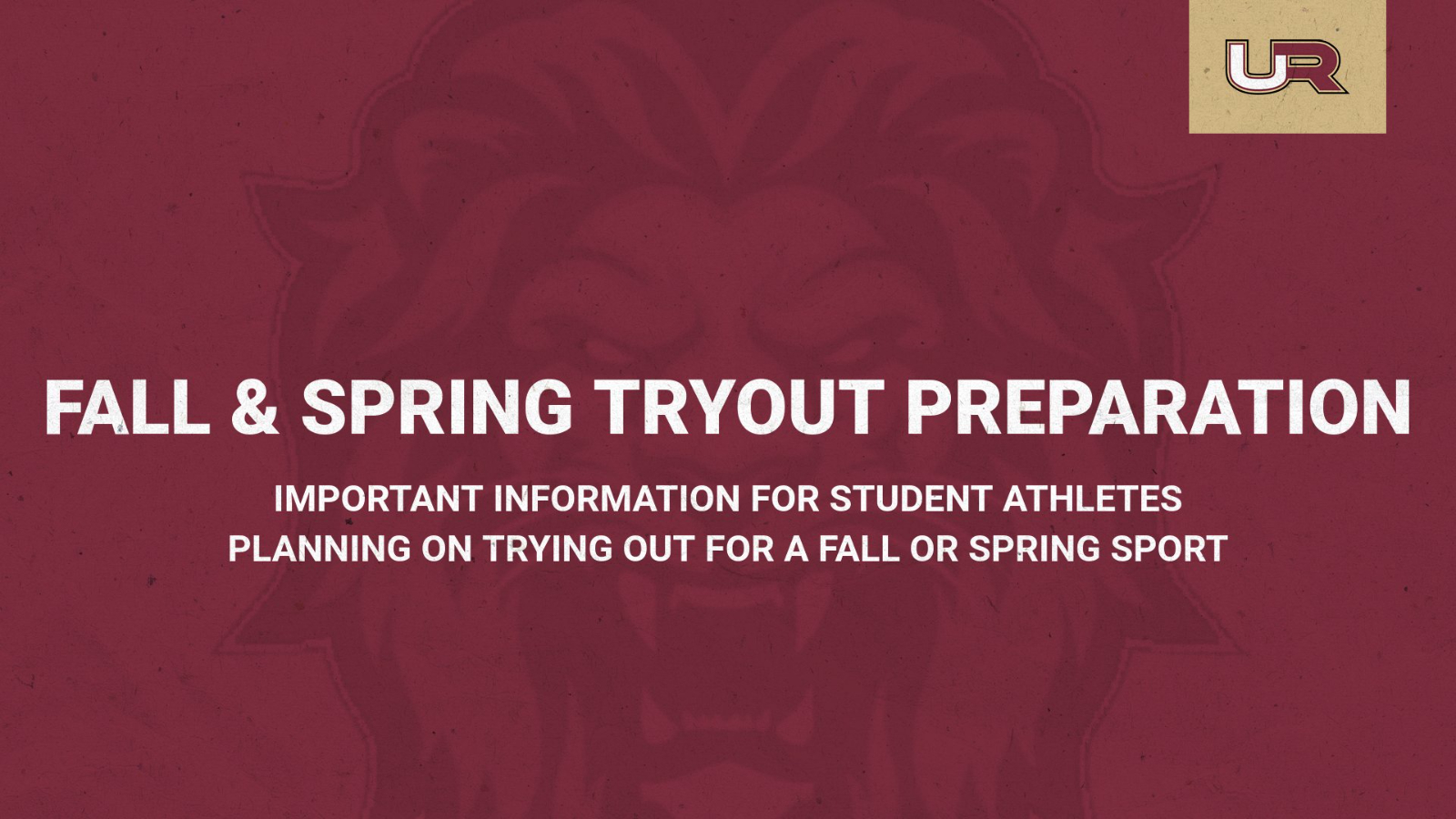 Fall & Spring Sport Tryout Information