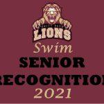 Swim Team Senior Recognition graphic