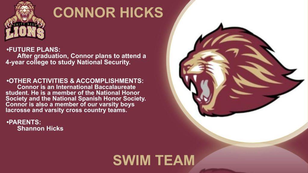 Connor Hicks senior slide