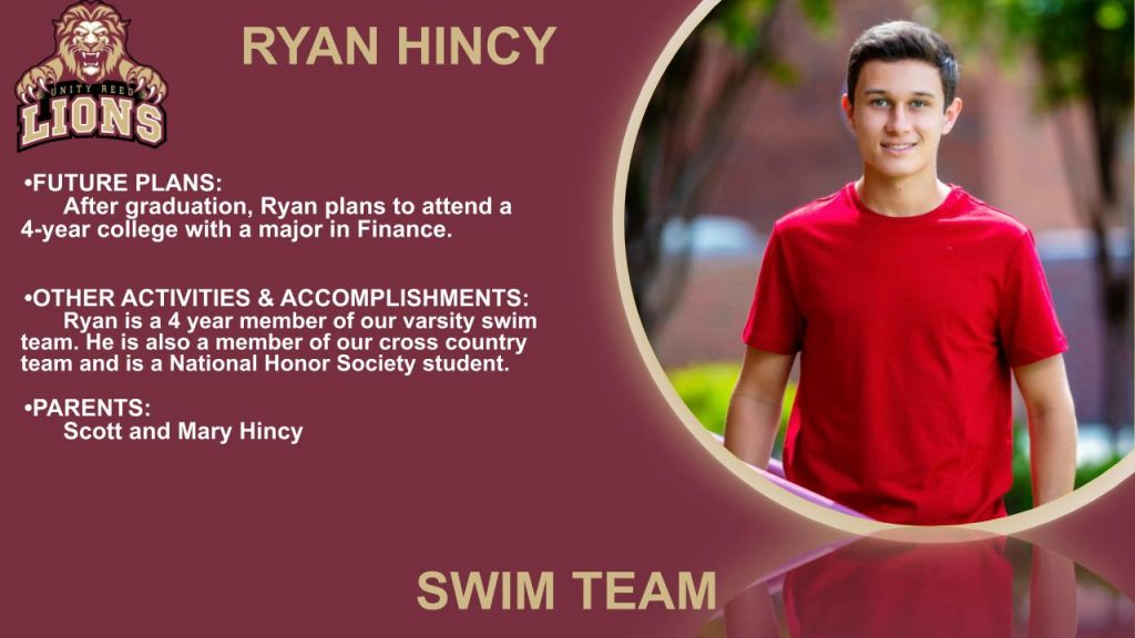 Ryan Hincey senior slide