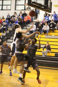 12/28/18 BlueJay Varsity Boys' Basketball vs St Louis Christian Academy Crusaders Win 74-42