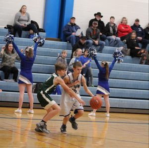 7th grade boys' basketball vs DeSoto.  A loss by 4 pts
