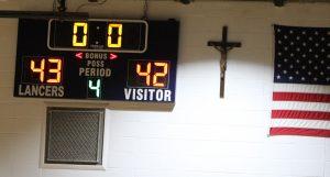 Varsity Boys' Basketball vs St Pius…a loss by one point! Pius 43, R-VII 42