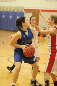 8th grade girl's basketball vs Crystal City – A nailbiter!