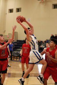 JV Boys' Basketball defeats Crystal City 40-38