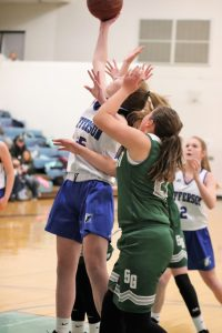 7th grade girls' basketball loses to St Gen, 18-19