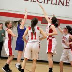 8th grade girls' basketball team defeats Crystal City 32-21