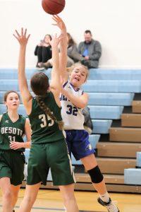 8th Grade Girls Basketball loses to DeSoto 16-26