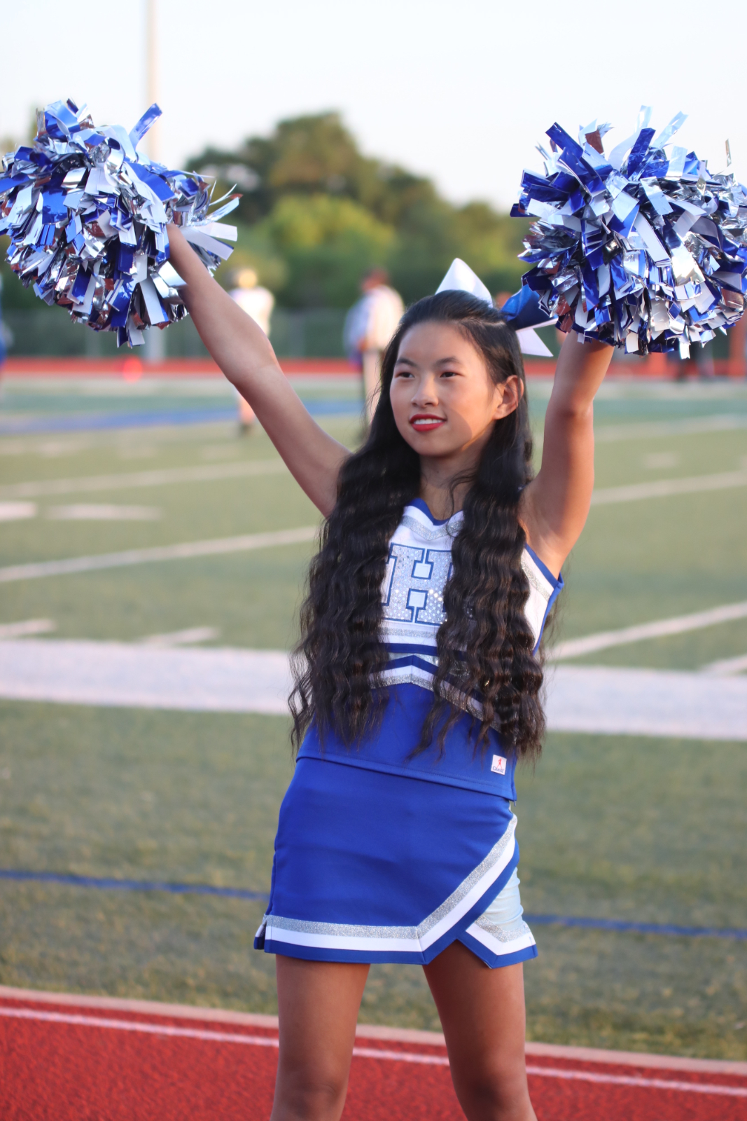 Cheer during the JHS vs Cuba Football Game 9/4/2020