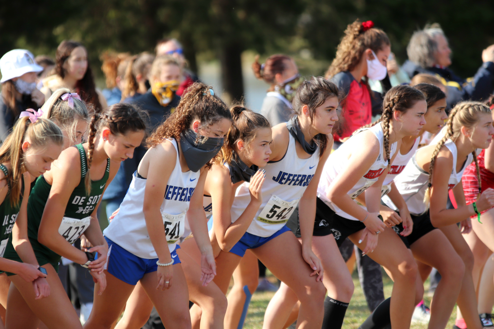 JHS Girls' Cross Country at West City Park 10/17/20