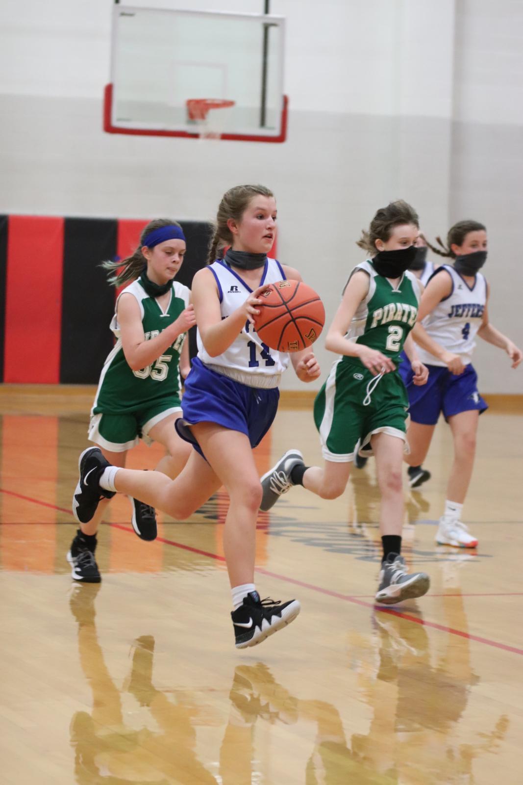 7th Grade Girls' Basketball defeats Perryville 54-3