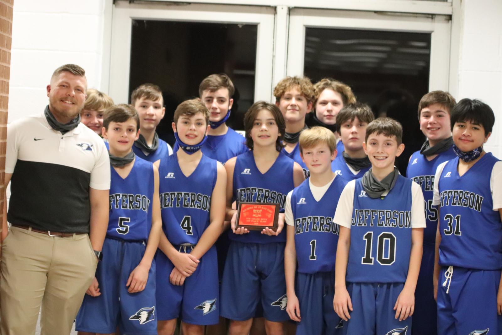 7th Grade Boys' Basketball takes the Championship vs Herculaneum Blackcats