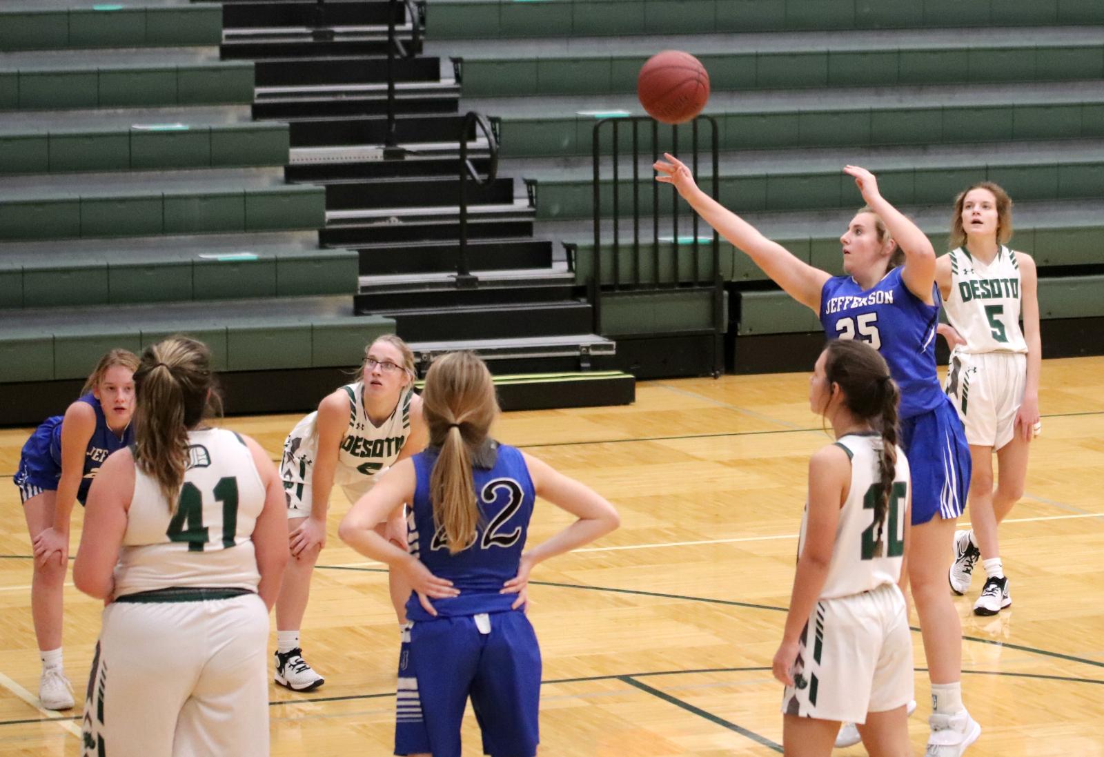 Varsity Girls' Basketball team loses to DeSoto 12/7/20