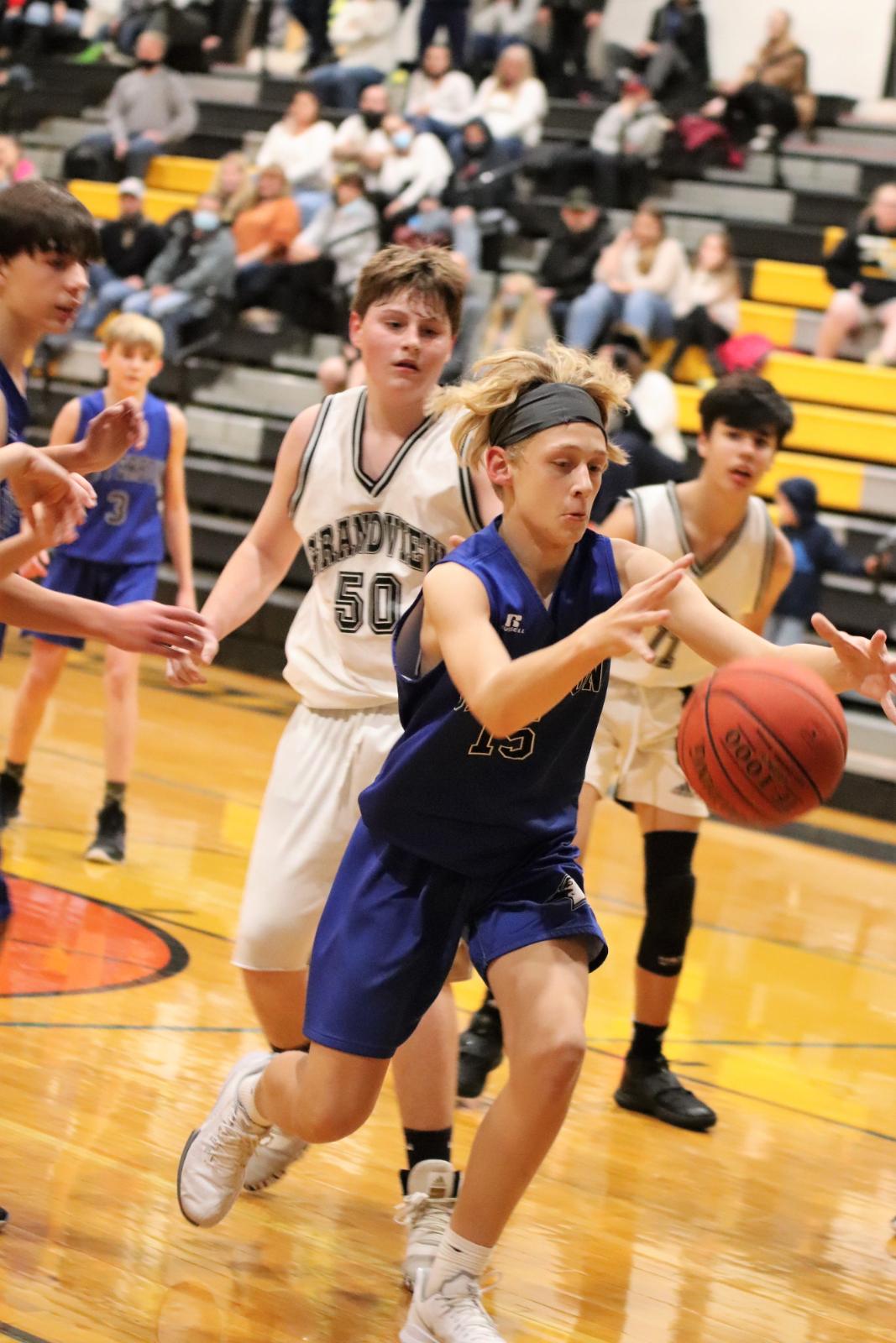8th grade boys' basketball loses to Grandview 27-34           12/15/20