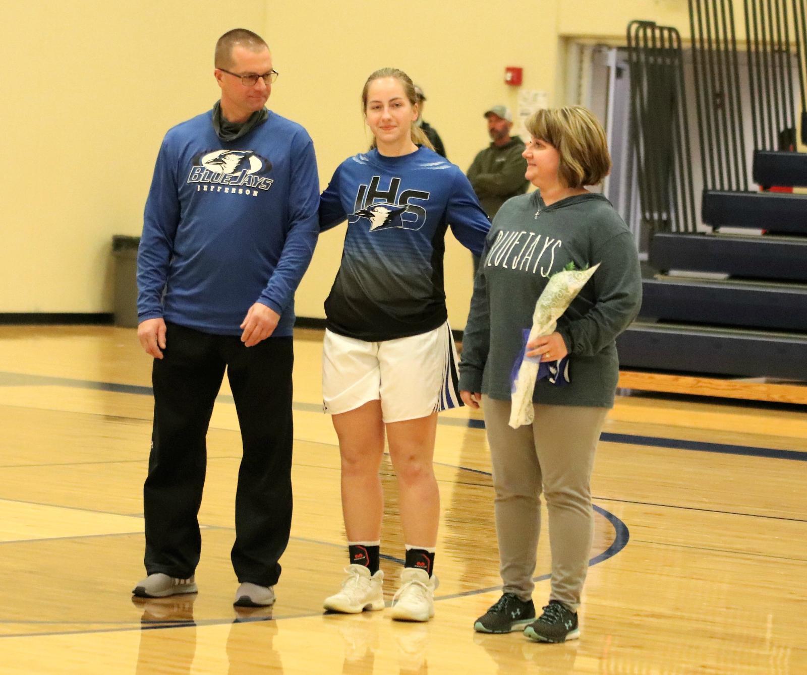 Senior Night at the Girls' Basketball Game