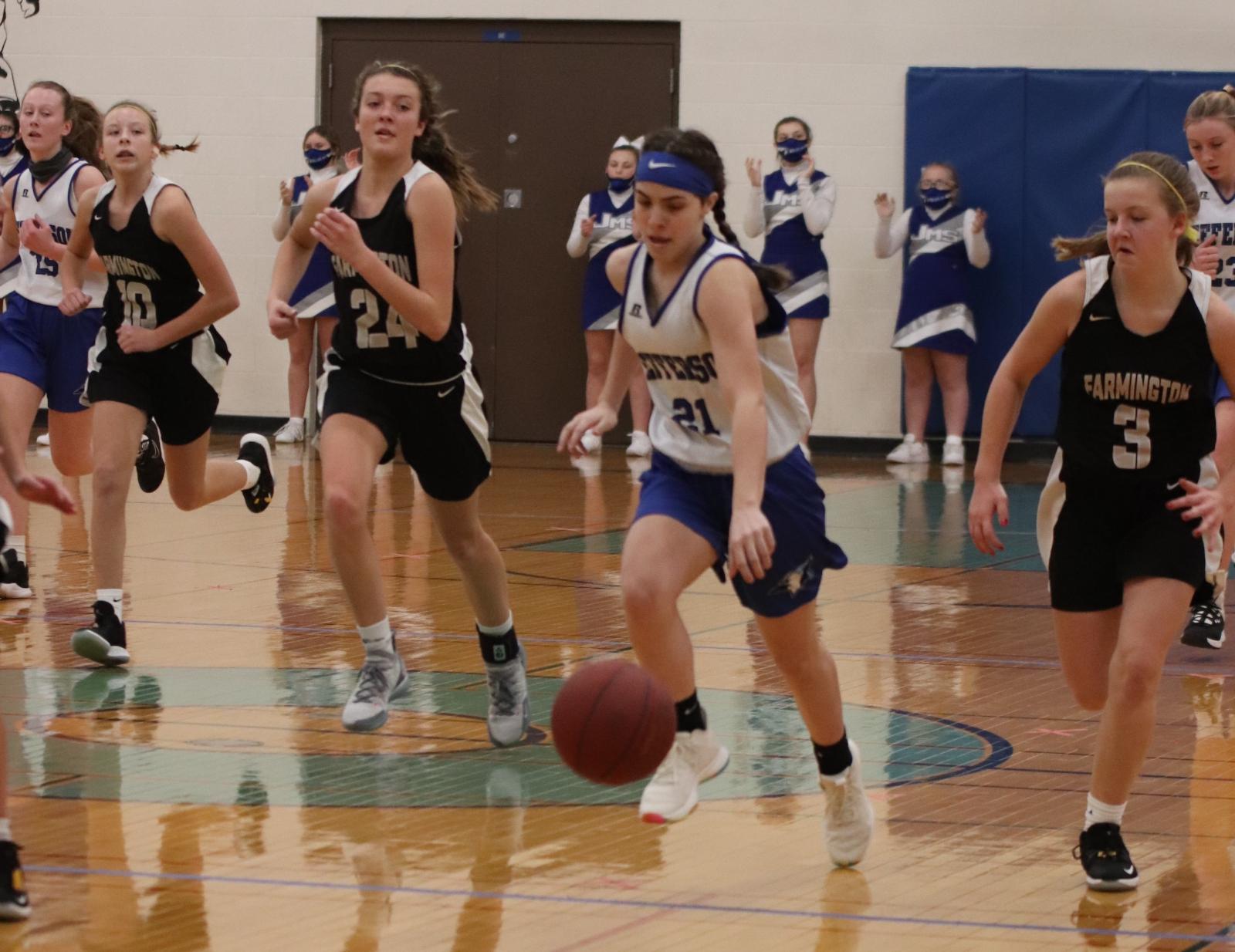 8th Grade Girls' Basketball vs Farmington 12/17/20