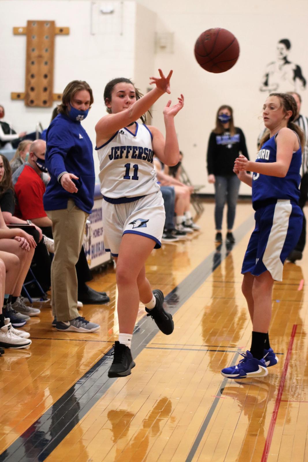8th Grade Girls' Basketball loses to Hillsboro  1/11/21