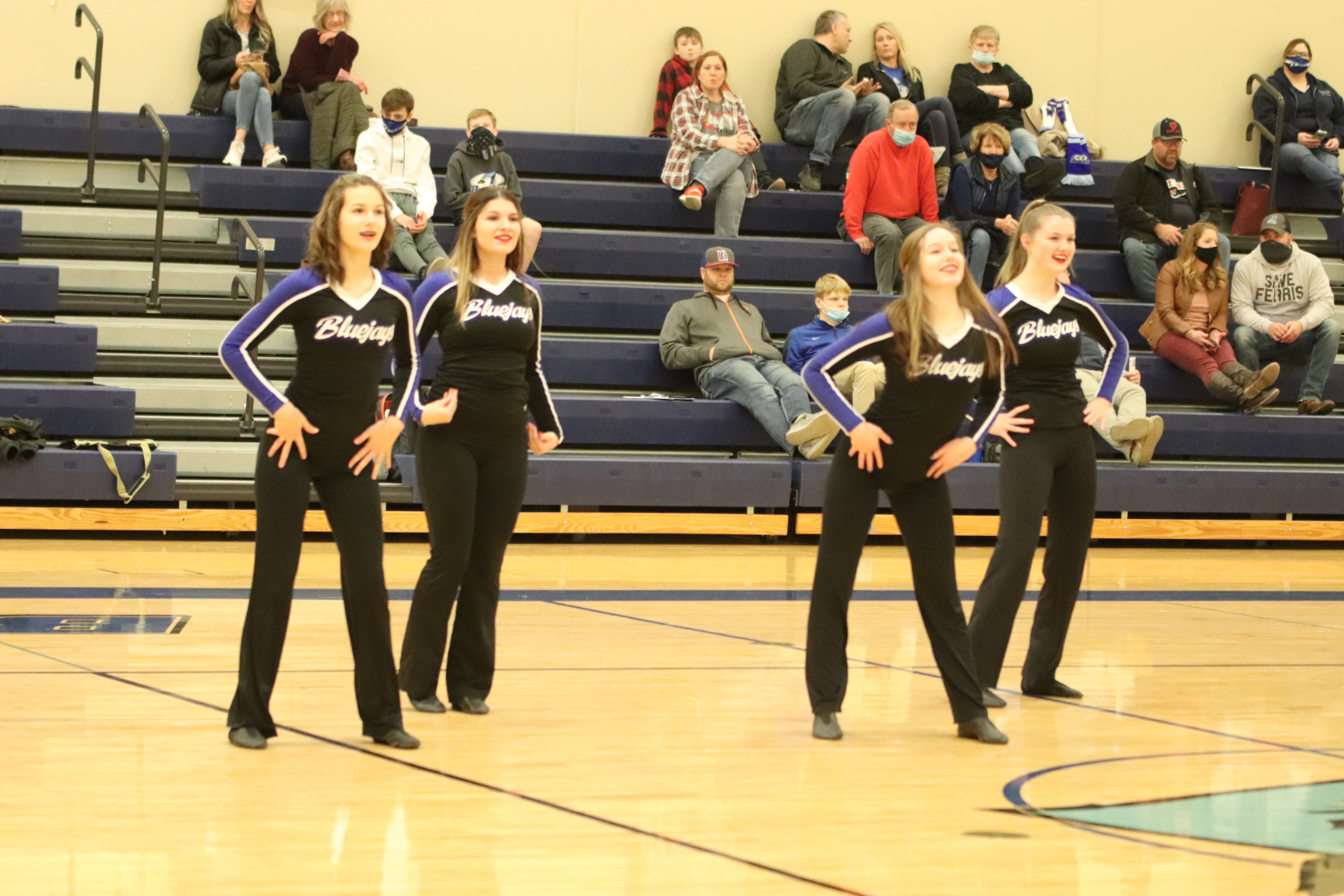 Dance Team at the West Co Boys' Basketball Game