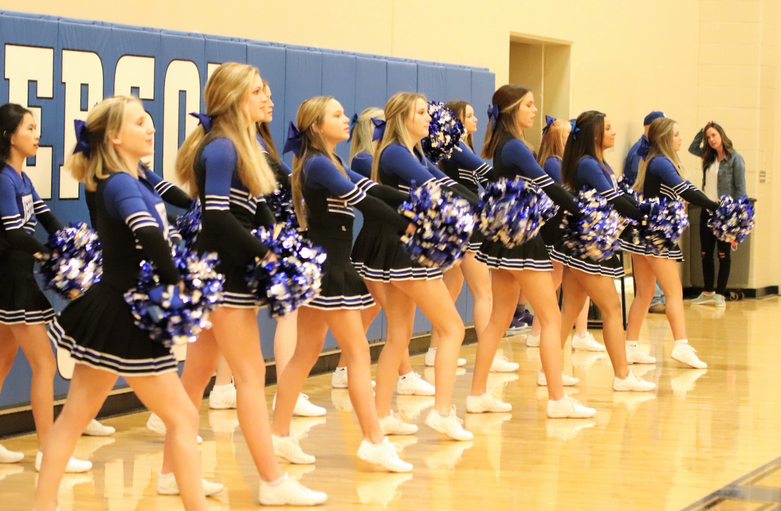 Winter Cheer at the West County Boys' Basketball Game
