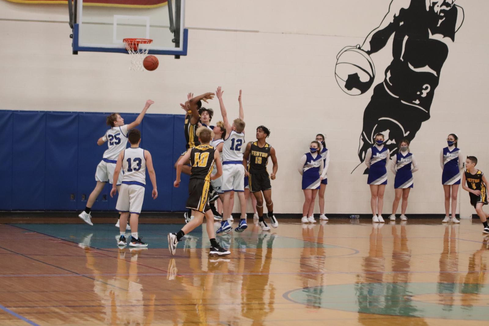 Boys 8th Grade Basketball Team Loses to Festus  1/21/21