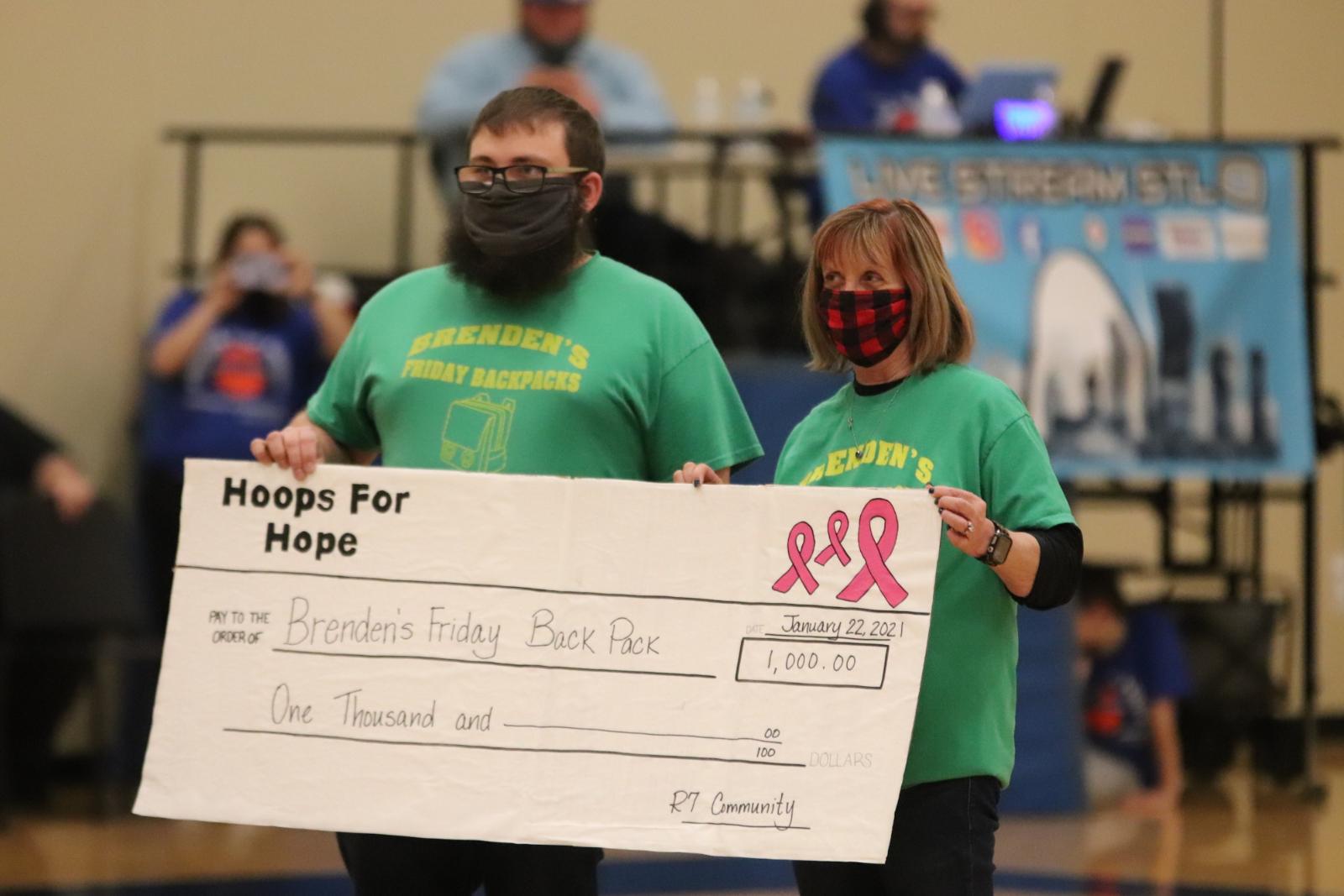Hoops for Hope Family & Brendan's Friday Backpack