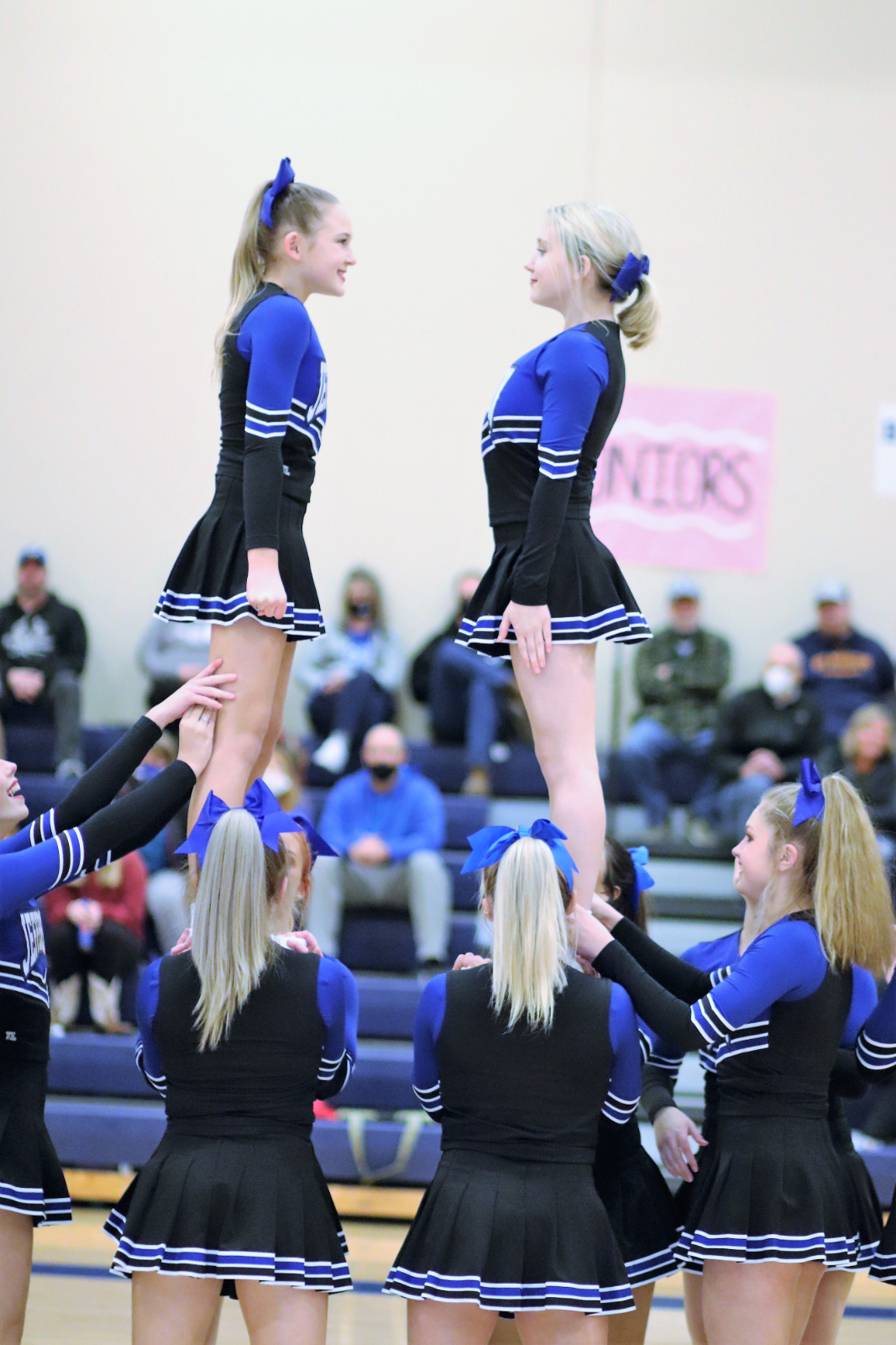 High School Cheer during the JHS vs Crystal City Game 2/5/21