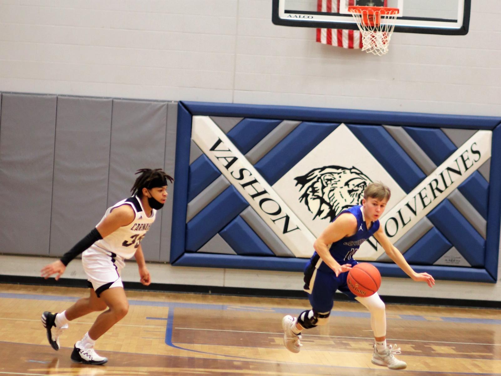 Varsity Boys' Basketball defeats Carnahan High School 60-50  @Vashon HS  2/20/21