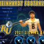 Reace Hampton signs LOI with Reinhardt University Football