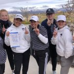 Girls Varsity Golf finishes 1st place at Region Match Hosted by Granger at Stonebridge