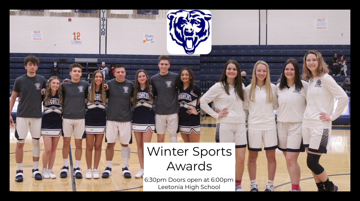 Winter Sports Awards Information for Monday March 15th at 6:30pm