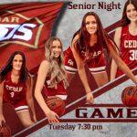 GBB Senior Night.  Tonight 7:30 PM