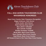 Bulldog Student Athletes & Coaches to be recognized by the Akron TD Club