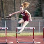 Girls Varsity Track finishes 2nd place at April Fool's Quad Meet