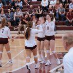 Volleyball battles against Norton HS