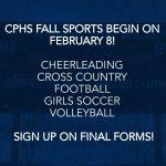 CPHS Athletics Season One Begins on February 8!
